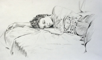 """*SOLD Pencil on paper 12""""x18"""""""