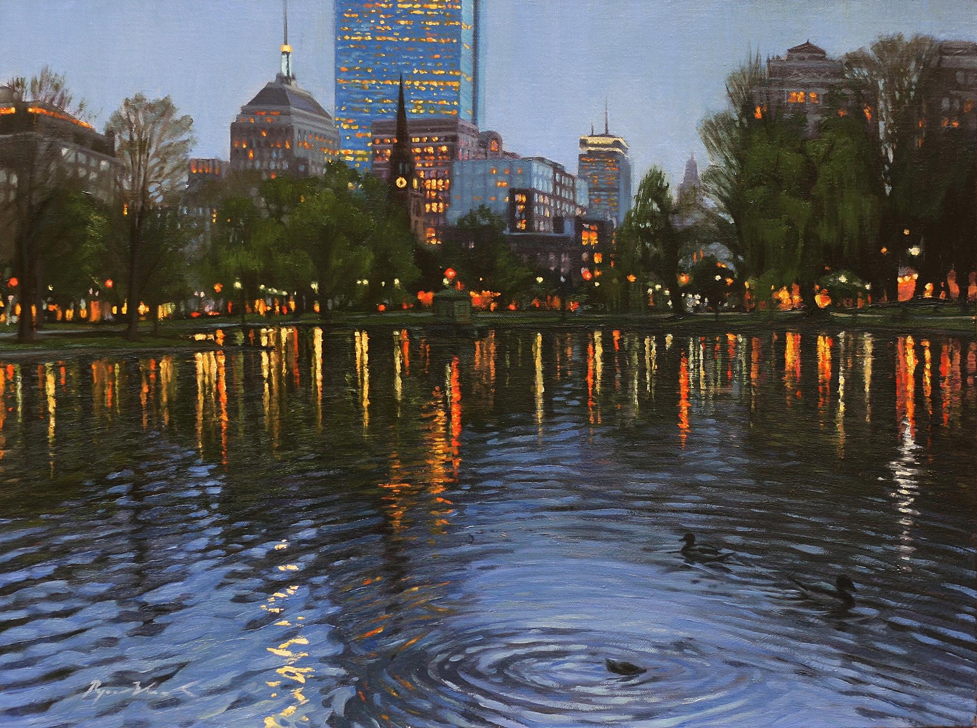 Twilight, Boston Public Garden – Ryan Black Art