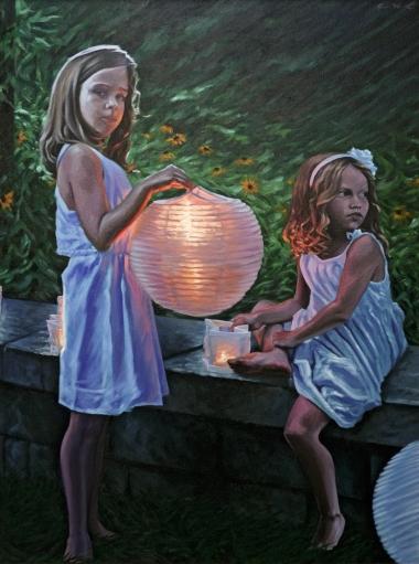 "oil on canvas 30""x40"""